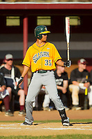Michael Gonzalez (35) of the SUNY Sullivan Generals at bat against the County College of Morris Titans on the campus of County College of Morris on April 9, 2013 in Randolph, New Jersey.  The Titans defeated the Generals 12-4.  (Brian Westerholt/Four Seam Images)
