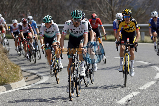 Ben Zwiehoff (GER) Bora-Hansgrohe during Stage 4 of the 100th edition of the Volta Ciclista a Catalunya 2021, running 166.5km from Ripoll to Port Aine, Spain. 25th March 2021.   <br /> Picture: Bora-Hansgrohe/Luis Angel Gomez/BettiniPhoto | Cyclefile<br /> <br /> All photos usage must carry mandatory copyright credit (© Cyclefile | Bora-Hansgrohe/Luis Angel Gomez/BettiniPhoto)