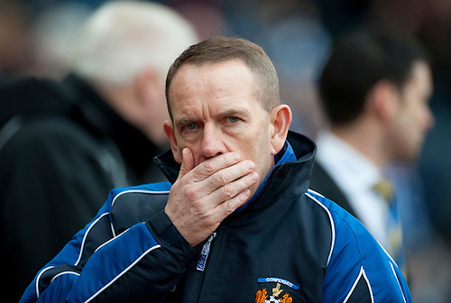GLASGOW, SCOTLAND - JANUARY 28:  Kilmarnock boss Kenny Shiels during the Scottish Communities Cup Semi Final match between Ayr United and Kilmarnock at Hampden Park on January 28, 2012 in Glasgow, United Kingdom. (Photo by Rob Casey/Getty Images).