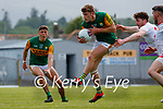 Gavin White, Kerry, in action against Rory Brennan, Tyrone, Matthew Donnelly, Tyrone, during the Allianz Football League Division 1 Semi-Final, between Tyrone and Kerry at Fitzgerald Stadium, Killarney, on Saturday.