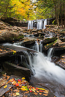 Oneida Falls, Ricketts Glen State Park, Pennsylvania, fall.