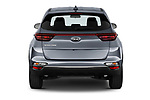 Straight rear view of 2021 KIA Sportage LX 5 Door SUV Rear View  stock images