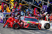 Monster Energy NASCAR Cup Series<br /> Brickyard 400<br /> Indianapolis Motor Speedway, Indianapolis, IN USA<br /> Sunday 23 July 2017<br /> Kyle Busch, Joe Gibbs Racing, Skittles Toyota Camry pit stop<br /> World Copyright: Russell LaBounty<br /> LAT Images