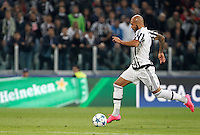 Calcio, Champions League: Gruppo D - Juventus vs Siviglia. Torino, Juventus Stadium, 30 settembre 2015.  <br /> Juventus's Simone Zaza prepares to kick to score during the Group D Champions League football match between Juventus and Sevilla at Turin's Juventus Stadium, 30 September 2015.<br /> UPDATE IMAGES PRESS/Isabella Bonotto