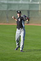 Grand Junction Rockies starting pitcher Riley Pint (34) warms up in the outfield before the game against the Ogden Raptors in Pioneer League action at Lindquist Field on August 26, 2016 in Ogden, Utah. The Raptors defeated the Rockies 6-5. (Stephen Smith/Four Seam Images)
