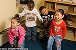 preschool 2-3 year old music dance activity smalll group moving to music