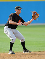June 20, 2008: Infielder Todd Davison (7) of the Frederick Keys, Carolina League affiliate of the Baltimore orioles, in a game against the Potomac Nationals at G. Richard Pfitzner Stadium in Woodbridge, Va. Photo by:  Tom Priddy/Four Seam Images