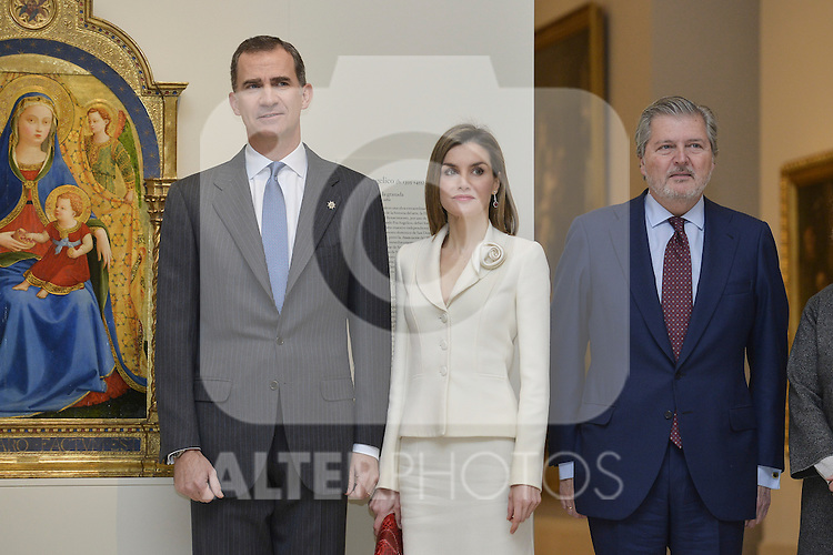 Spanish Royals King Felipe VI of Spain and Queen Letizia of Spain attend a meeting with Prado Museum board representatives at Prado National Museum in Madrid, Spain. February 16, 2016. (ALTERPHOTOS/Pool)