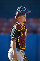 Bethune-Cookman Wildcats catcher Clay Middleton (9) during practice before a game against the Wisconsin-Milwaukee Panthers on February 26, 2016 at Chain of Lakes Stadium in Winter Haven, Florida.  Wisconsin-Milwaukee defeated Bethune-Cookman 11-0.  (Mike Janes/Four Seam Images)