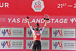 Caleb Ewan (AUS) Lotto-Soudal wins Stage 7 of the 2021 UAE Tour running 165km from Yas Island to Abu Dhabi Breakwater, Abu Dhabi, UAE. 27th February 2021.<br /> Picture: LaPresse/Gian Mattia D'Alberto   Cyclefile<br /> <br /> All photos usage must carry mandatory copyright credit (© Cyclefile   LaPresse/Gian Mattia D'Alberto)