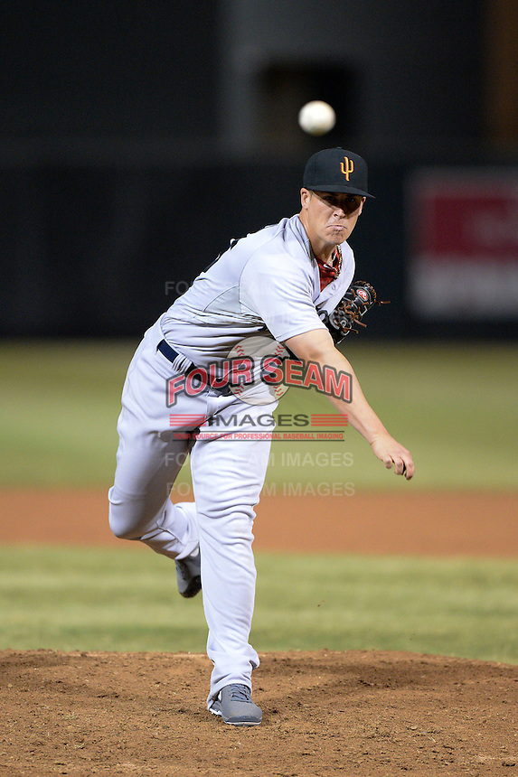 Surprise Saguaros pitcher Keith Couch (55), of the Boston Red Sox organization, during an Arizona Fall League game against the Salt River Rafters on October 15, 2013 at Salt River Fields at Talking Stick in Scottsdale, Arizona.  Surprise defeated Salt River 9-2.  (Mike Janes/Four Seam Images)
