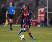 EAST HARTFORD, CT - JULY 1: Crystal Dunn #2 of the USWNT dribbles during a game between Mexico and USWNT at Rentschler Field on July 1, 2021 in East Hartford, Connecticut.