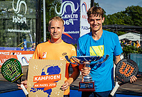 Rosmalen, Netherlands, 15 June, 2019, Tennis, Libema Open, NK Padel, Final mens double: Victor van Ruissen and Berend Boers (NED) Winners with trophy<br /> Photo: Henk Koster/tennisimages.com