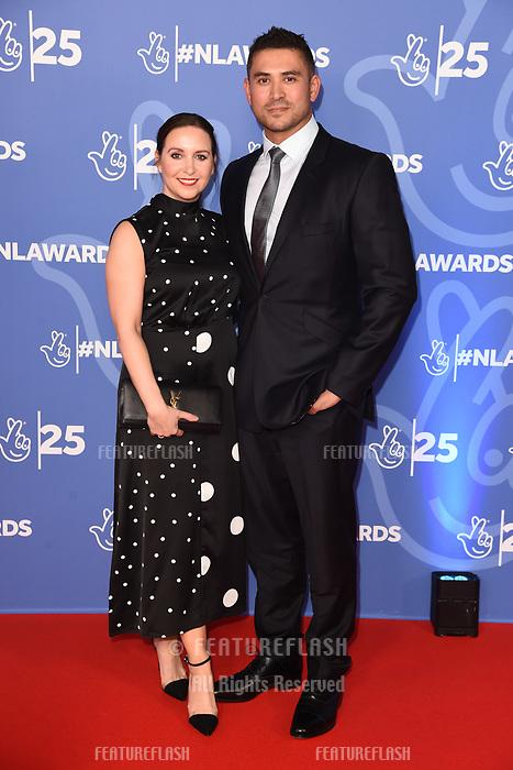LONDON, UK. October 15, 2019: Rav Wilding & Jill Wilding at the National Lottery Awards 2019, London.<br /> Picture: Steve Vas/Featureflash