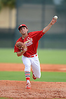 GCL Cardinals pitcher Rob Kaminsky (48) during the first game of a double header against the GCL Mets on July 17, 2013 at Roger Dean Complex in Jupiter, Florida.  GCL Cardinals defeated the GCL Mets 6-5 in twelve innings.  (Mike Janes/Four Seam Images)