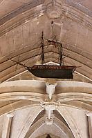 Europe/Europe/France/Midi-Pyrénées/46/Lot/Luzech: Chapelle Notre-Dame de l'île  chapelle des mariniers au cœur du vignoble  - Ex-Voto  représentant un bateau