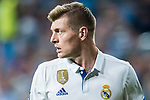 Toni Kroos of Real Madrid looks on in action during their 2016-17 UEFA Champions League Semifinals 1st leg match between Real Madrid and Atletico de Madrid at the Estadio Santiago Bernabeu on 02 May 2017 in Madrid, Spain. Photo by Diego Gonzalez Souto / Power Sport Images
