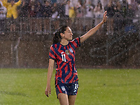 EAST HARTFORD, CT - JULY 1: Christen Press #11 of the USWNT waves to the crowd during a game between Mexico and USWNT at Rentschler Field on July 1, 2021 in East Hartford, Connecticut.