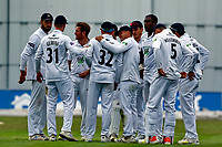 23rd September 2021; Aigburth, Liverpool, Merseyside, England; LV=Country Cricket Championship; Lancashire versus Hampshire; A second wicket for Hampshire as Keith Barker has Lancashire keeper Alex Davies caught by Mason Crane for 44