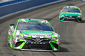 2017 Monster Energy NASCAR Cup Series<br /> Auto Club 400 Auto Club Speedway, Fontana, CA USA<br /> Sunday 26 March 2017<br /> Kyle Busch, Interstate Batteries Toyota Camry and Daniel Suarez, Subway Toyota Camry<br /> World Copyright: Russell LaBounty/LAT Images<br /> ref: Digital Image 17FON1rl_6307
