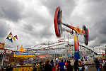 Carnival Rides on Midway at State Fair.