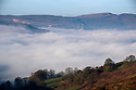 14/02/19<br /> <br /> After a cold still night with high pressure a warm day is forecast making for spectacular cloud inversions <br /> like this one over the Hope Valley with cement works and Mam Tor in the distance in the Derbyshire Peak District.<br /> <br /> All Rights Reserved, F Stop Press Ltd +44 (0)7765 242650  www.fstoppress.com rod@fstoppress.com