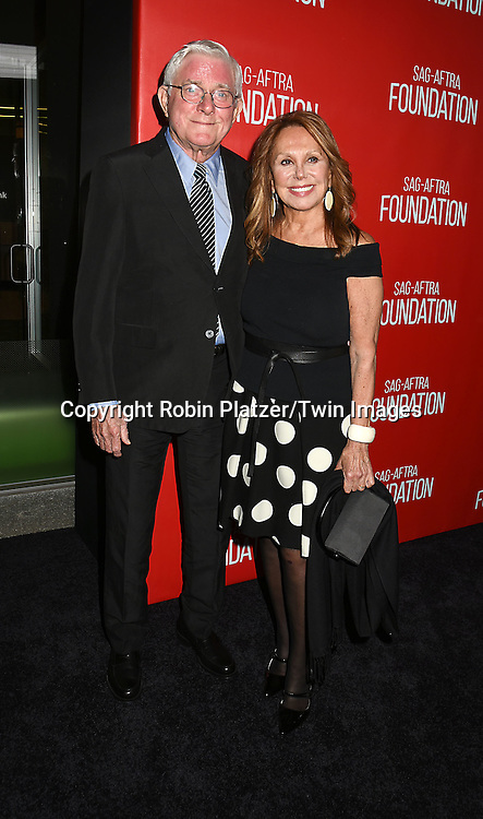 Phil Donahue and Marlo Thomas attends the Grand Opening of SAG-AFTRA Foundation Robin Williams Center on October 5, 2016 at The Robin Williams Center in New York, New York, USA.<br /> <br /> photo by Robin Platzer/Twin Images<br />  <br /> phone number 212-935-0770