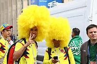 Fans aus Kolumbien sind zur Eröffnung der Fußball WM angekommen - 14.06.2018: Russland vs. Saudi Arabien, Eröffnungsspiel der WM2018, Luzhniki Stadium Moskau