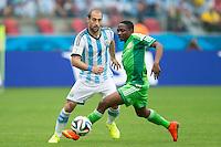 Pablo Zabaleta of Argentina and Ahmed Musa of Nigeria