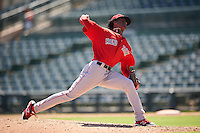 Boston Red Sox pitcher Gerson Bautista (87) during an Instructional League game against the Baltimore Orioles on September 22, 2016 at the Ed Smith Stadium in Sarasota, Florida.  (Mike Janes/Four Seam Images)