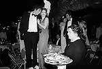 Waitress at the Berkeley Square Ball. London 1981.