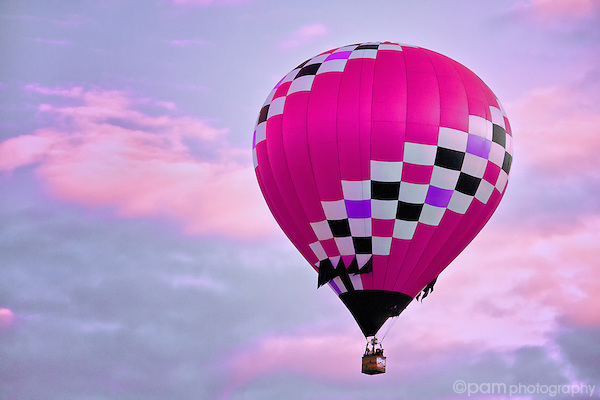 Pink hot air balloon