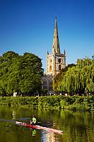 United Kingdom, UK, England, West Midlands, Warwickshire, Stratford-Upon-Avon, Great Britain, British Isles, Holy Trinity Church, Burial Place of William Shakespeare, River Avon