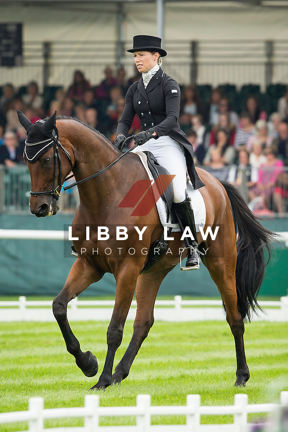 NZL-Megan Heath (ST DANIEL) INTERIM-22ND: FIRST DAY OF DRESSAGE: 2014 GBR-Land Rover Burghley Horse Trial (Thursday 3 September) CREDIT: Libby Law COPYRIGHT: LIBBY LAW PHOTOGRAPHY - NZL