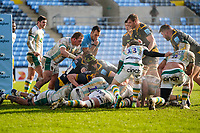 6th February 2021; Ricoh Arena, Coventry, West Midlands, England; English Premiership Rugby, Wasps versus Northampton Saints; The referee blows his whistle as Wasps cannot get the ball over the line which ends the first half