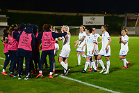 20190301 - LARNACA , CYPRUS : Italian team celebrating their victory pictured during a women's soccer game between Hungary and Italy , on Friday 1 March 2019 at the GSZ Stadium in Larnaca , Cyprus . This is the second game in group B for both teams during the Cyprus Womens Cup 2019 , a prestigious women soccer tournament as a preparation on the FIFA Women's World Cup 2019 in France . PHOTO SPORTPIX.BE | STIJN AUDOOREN
