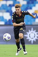 Miha Zajc of Genoa CFC<br /> during the Serie A football match between SSC Napoli and Genoa CFC at stadio San Paolo in Napoli (Italy), September 27, 2020. <br /> Photo Cesare Purini / Insidefoto