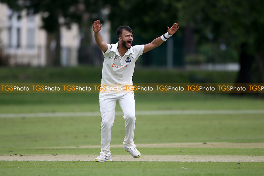 E Kalley of Wanstead appeals for a wicket during Hornchurch CC vs Wanstead and Snaresbrook CC, Hamro Foundation Essex League Cricket at Harrow Lodge Park on 10th July 2021