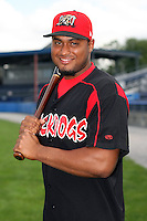 August 26 2008:  Jairo Martinez of the Batavia Muckdogs, Class-A affiliate of the St. Louis Cardinals, during a game at Dwyer Stadium in Batavia, NY.  Photo by:  Mike Janes/Four Seam Images