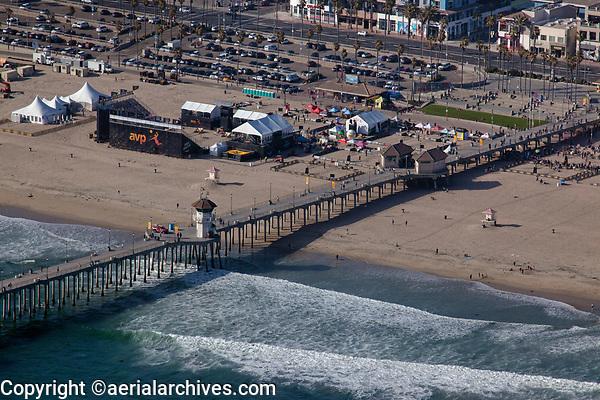 aerial photograph of Huntington Beach Pier, Orange County, California