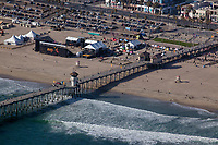 aerial photograph of Huntington Beach Pier, Orange County, California