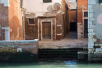 Buildings on a side canal in Venice, Italy