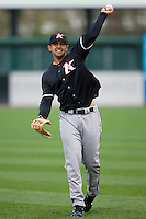 Christian Marrero (24) of the Kannapolis Intimidators warms up prior to taking on the Greenville Drive at Fluor Field in Greenville, SC, Sunday, April 6, 2008.