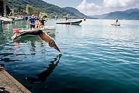Federico Vanelli Fiamme Oro<br />  5 km cronometro<br /> Omegna, Lago D'Orta<br /> FIN 2016 Campionato Italiano Assoluto Nuoto di Fondo <br /> <br /> Day 01   10-06-2016<br /> Photo Laura Binda/Deepbluemedia/Insidefoto