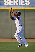 Round Rock Express outfielder Joey Butler #16 makes a catch during the Pacific Coast League baseball game against the Sacramento River Cats on May 22, 2012 at The Dell Diamond in Round Rock, Texas. The Express defeated the River Cats 11-5. (Andrew Woolley/Four Seam Images)