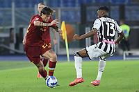 23rd September 2021;  Stadio Olimpicom, Roma, Italy; Serie A League Football, Roma versus Udinese; Nicolo Zaniolo of AS Roma takes on Destiny Udogie of Udinese
