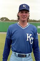 Kansas City Royals Mark Gubicza during spring training circa 1989 at Baseball City Stadium in Davenport, Florida.  (MJA/Four Seam Images)