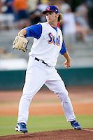 Starting pitcher Cody White (38) of the Jacksonville Suns in action at the Baseball Grounds in Jacksonville, FL, Thursday June 12, 2008.