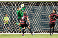STANFORD, CA - August 19, 2014: Stanford goalkeeper Andrew Epstein (1) during the Stanford vs CSU Bakersfield men's soccer match in Stanford, California. Final score, Stanford 1, CSU Bakersfield 0.