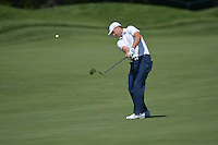 Bethesda, MD - June 28, 2014: Jordan Spieth plays his second shot on hole 5 in the third round of the Quicken Loans National at the Congressional Country Club in Bethesda, MD, June 28, 2014.  (Photo by Don Baxter/Media Images International)